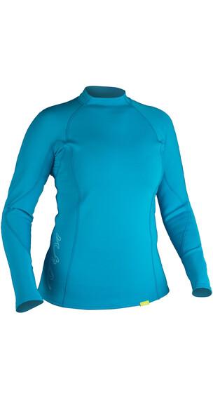 NRS W's HydroSkin 0.5 L/S Shirt Azure Blue